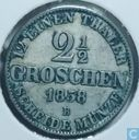Oldenburg 2 1/2 groschen 1858 B