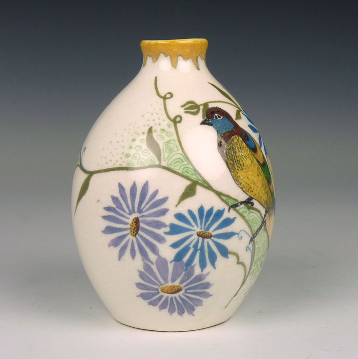 Amphora Art Nouveau Vase With Bird Catawiki