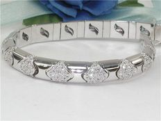Bracelet set with diamond - 4,05 ct in total F/VS1