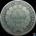 France 2 francs 1871 (K - with legend)