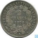 France 2 francs 1870 (A - with legend)