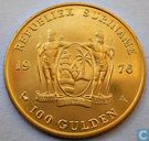 "Suriname 100 gulden 1976 ""1st Anniversary of Independence"""
