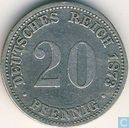 German Empire 20 pfennig 1873 (A)