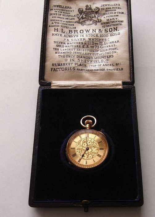 f40e20369 swiss lever pocket watch - 18 k ct ladies / gent's - circa early 1900s.