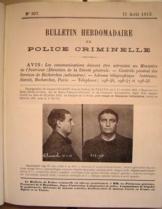 Police; Criminal police bulletin - 26 bulletins from 7 July to 26 December 1913