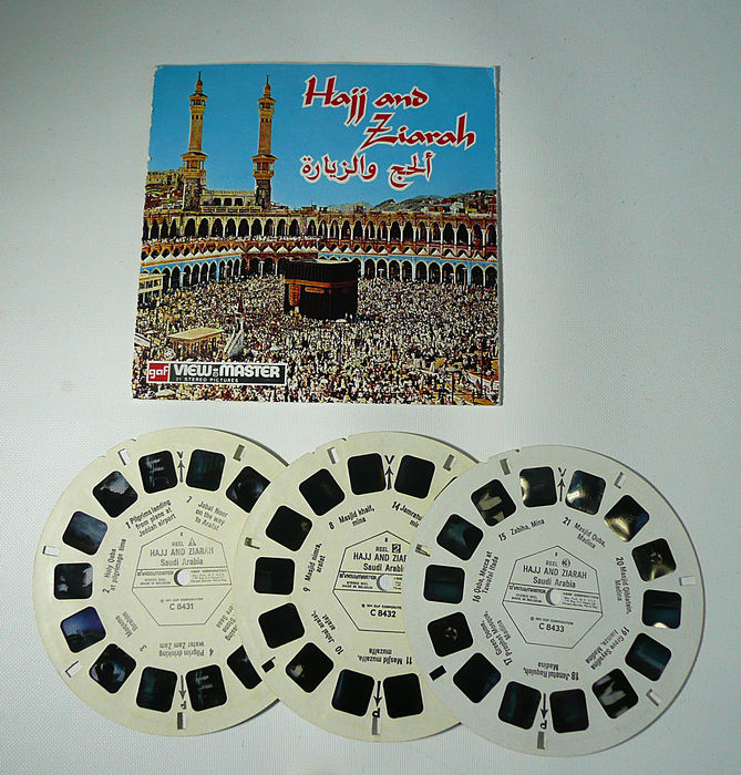 Viewmaster reels Hajj and Ziarah, pilgrim journey to Mecca in 21 3D