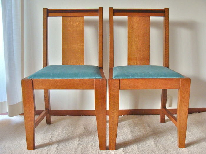 Art Deco Stoel : Two art deco chairs catawiki