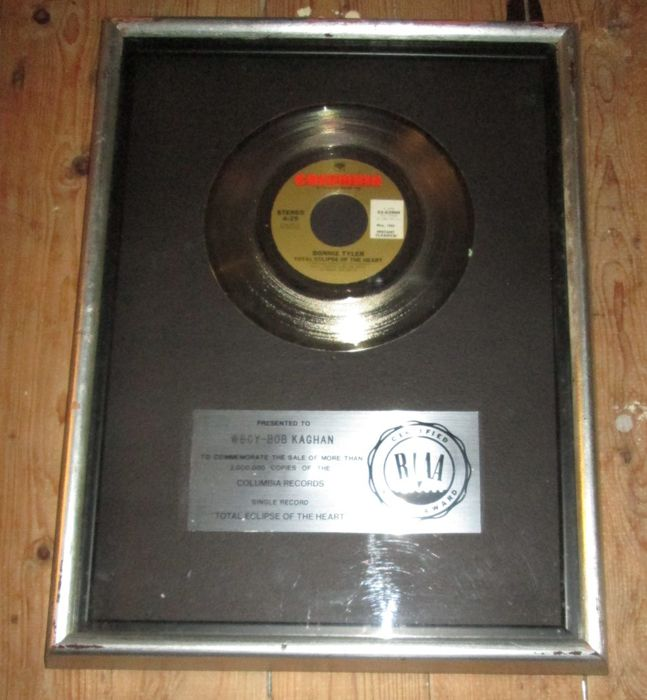 Bonnie Tyler , Original USA RIAA Platinum Record total eclipse from the heart