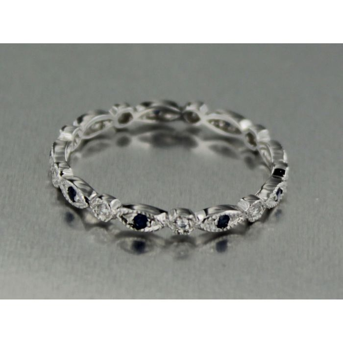 Extremement whole white gold alliance ring with brilliant cut diamond - Catawiki AY-58