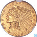 Most valuable item - United States 5 Dollars 1909-O Indian Head Half Eagle