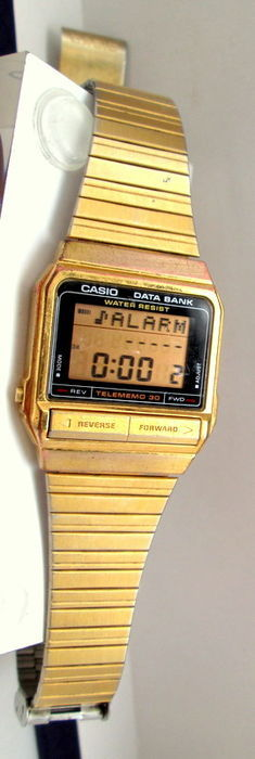 casio data bank vintage montre homme catawiki. Black Bedroom Furniture Sets. Home Design Ideas