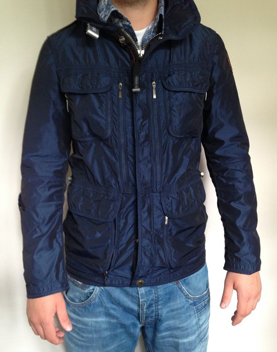 parajumpers desert windbreaker jacket blue black