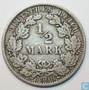 German Empire ½ mark 1908 (G)
