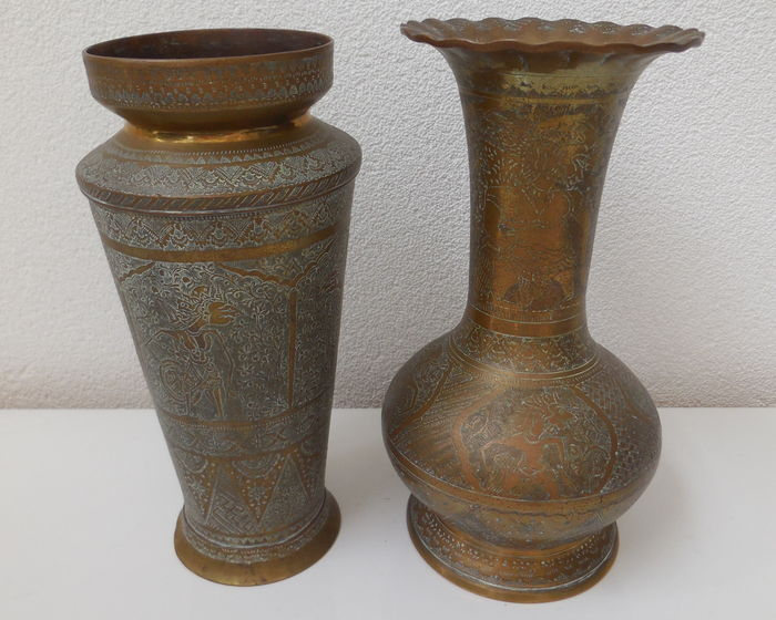 Two Brass Vases Java Indonesia Early 20th Century Catawiki