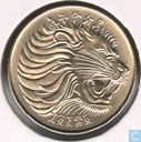 Ethiopia 10 cents 1977 (year 1969 - equal whiskers)