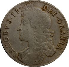 United Kingdom - 1/2 Crown 1688  (QVARTO) James II - silver