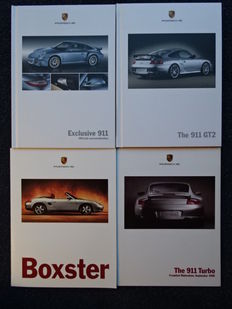 1996 - 2010 - Porsche 911 Turbo, 911 GT2, 911 Exclusive, Boxster - Mixed lot of 4 sales brochures