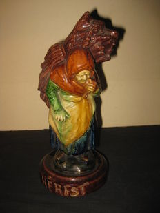 Antique holland pottery barbotine herfst autumn palissy majolica 1880s