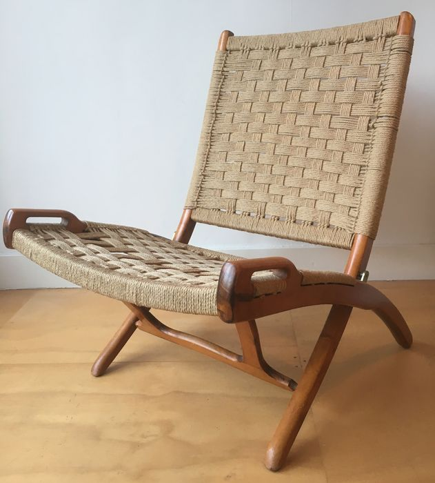 Vintage Rope Folding Chair