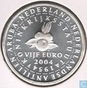 "Coins - the Netherlands - Netherlands 5 Euro 2004 ""50 years Kingdom Statute"""