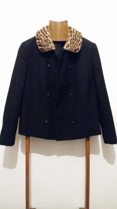 20cecd112735 Spectacular 1960s Wool Heavy Jacket with leopard Fur Collar - Catawiki