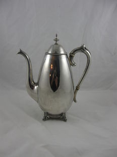 Cone-shaped silver coffee pot, Van Kempen, voorschoten, 1889