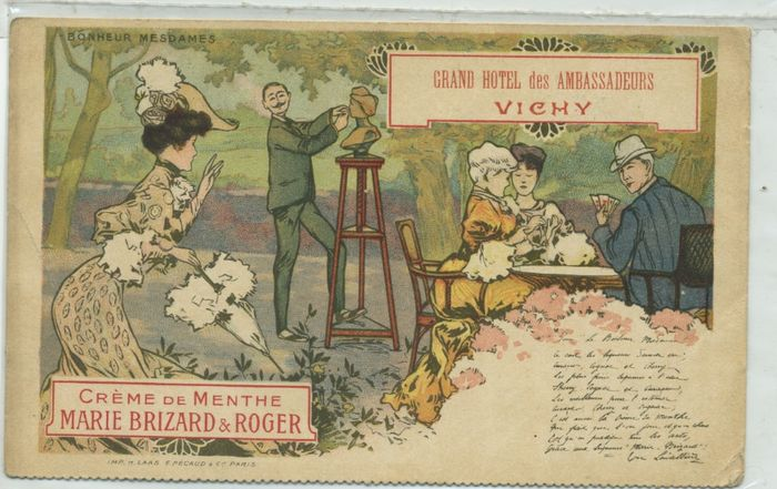 French advertising postcards 5x