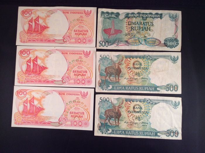 Yugoslavia lot of 6x100 pcs banknotes