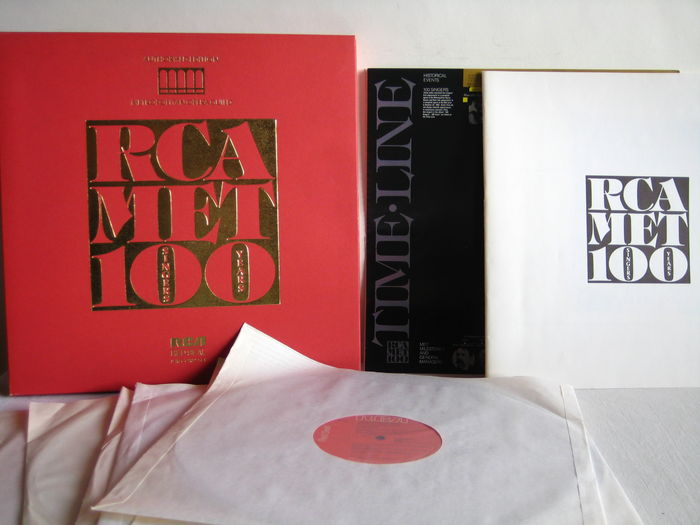 LOT of 3 Opera Boxes (15! lp's) - RCA 8 LP - Authorised Edition from The Metropolitan Opera Guild - 100 Singers 100 Years / Accord 4 LP - Teatro alla Scala Bicentenaire 1778 - 1978 / Opera Rara 3 LP A Hundred Years of Italian Opera