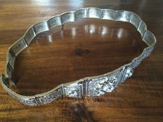 Silver belt with zirconias, 20th century