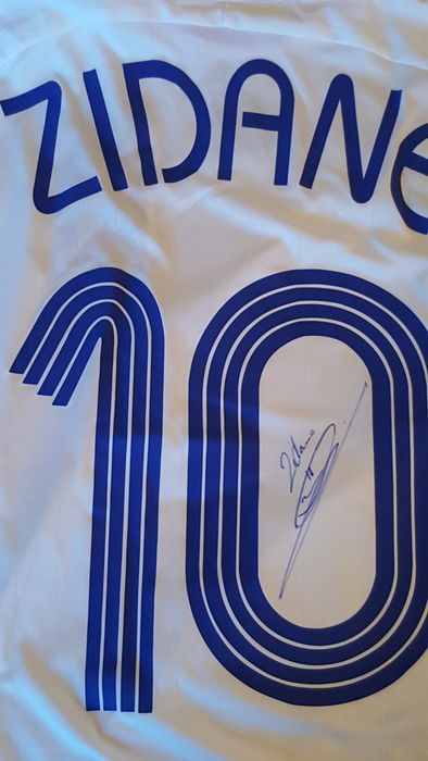 72a43b8fa Zinedine Zidane World Cup 2006 original shirt signed + COA + Letter Real  Madrid.