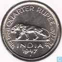 British India ¼ rupee 1947 (Mumbai/Bombay)