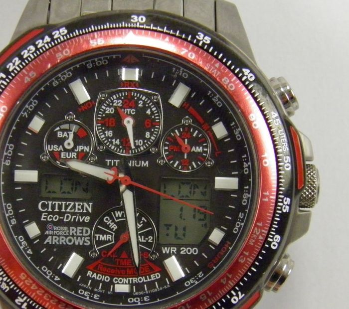 drive chronograph a rubber ebay s mens perpetual citizen skyhawk p t eco watches watch