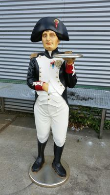 Large polyester sculpture of Napoleon