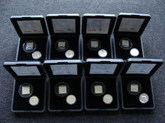 The Netherlands - Coin set 2001 'Last Silver Guilder and Silver Stamp' (8 pieces)