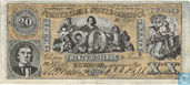 Confederate States of America  20 dollars 1861 (REPLICA)