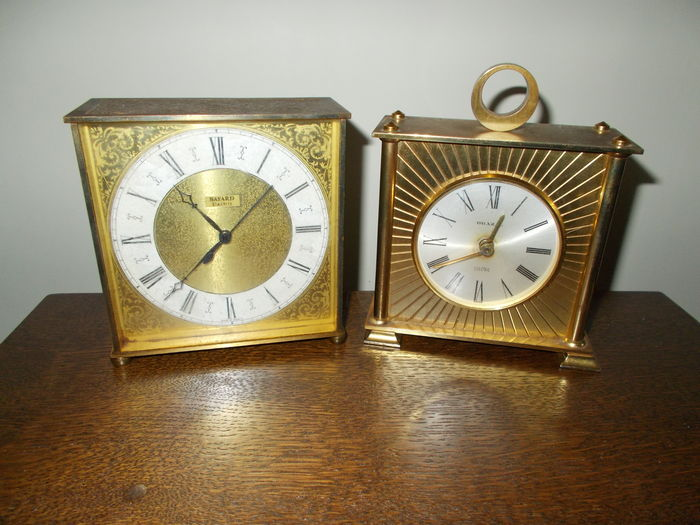 Two Brass Table Clocks   20th Century