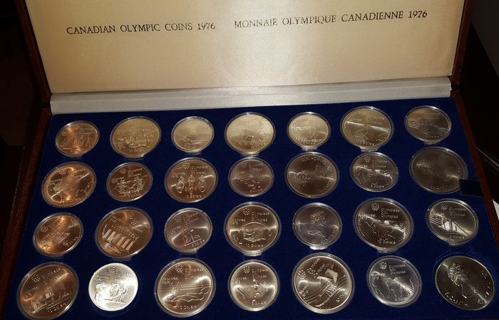 CANADA 1976 OLYMPIC $5 SILVER COIN *No 28**