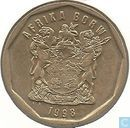 South Africa 50 cents 1998