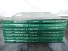 7 books - Mercedes Benz - 26 x 21 cm - 1,200 pages