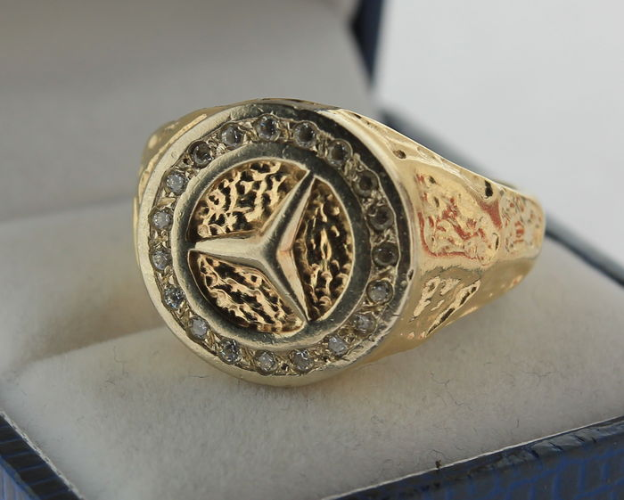 14 Kt Robuste Mercedes Ring Catawiki