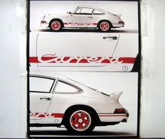 "Origineel Porsche Affiche 50 Jahre Porsche - Porsche 911 Carrera RS 2.7 - A ""Rump"" for the Ambitioned Drivers of Porsche 1973"