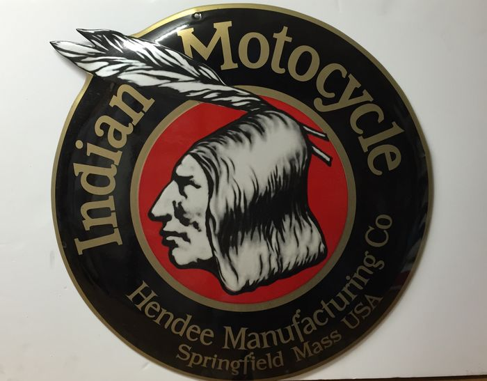 Indian Motorcycles Gebord Emaille Bord Diameter 50 Cm Catawiki