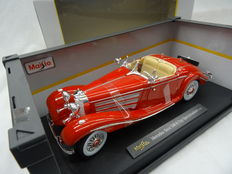 Maisto Premiere Edition - Scale 1/18 - Mercedes-Benz 500K Typ Specialroadster 1936 - Colour Red