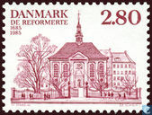 Postage Stamps - Denmark - French and German reformed church