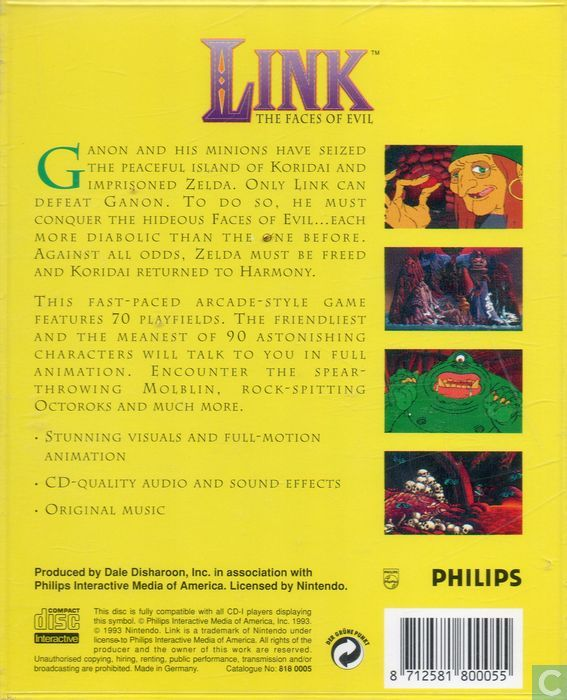 link the faces of evil for demonstration only philips cd i