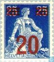 Seated Helvetia with Sword