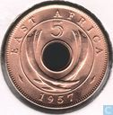 Oost-Afrika 5 cents 1957 (KN)