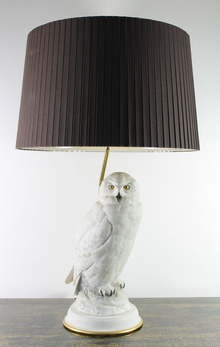 Franklin mint the snowy owl table lamp in biscuit porcelain franklin mint the snowy owl table lamp in biscuit porcelain mozeypictures Choice Image