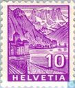 Postage Stamps - Switzerland [CHE] - Chillon Castle and Dents du Midi